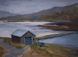 Fishing hut at Loch Fincastle